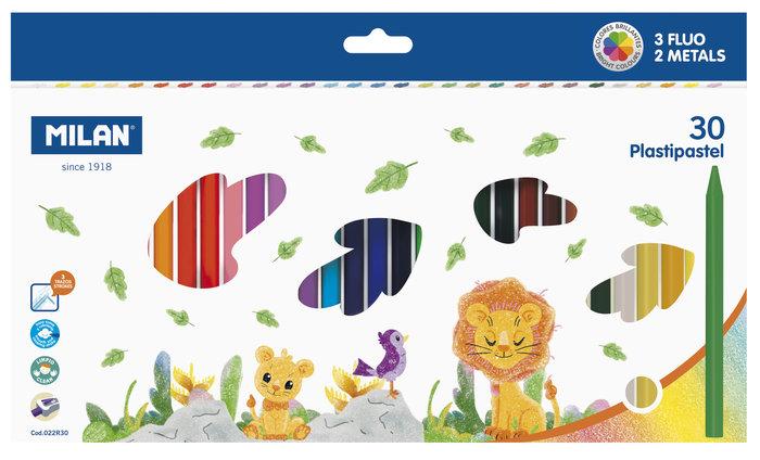 Cera milan plastipastel 30 colores surtidos