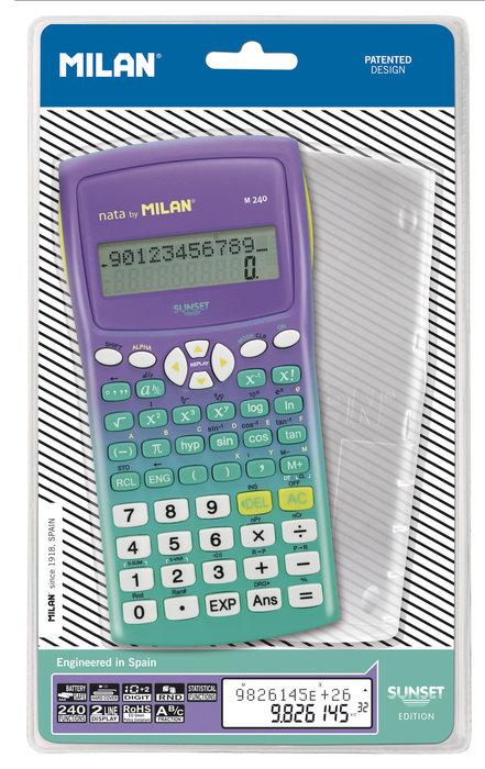 Calculadora cientifica milan m240 sunset verde