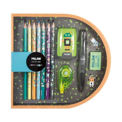 Caja regalo edition box happy bots verde