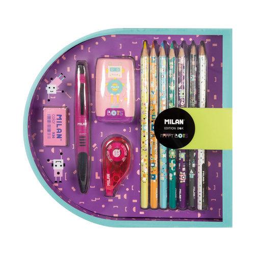 Caja regalo edition box happy bots rosa