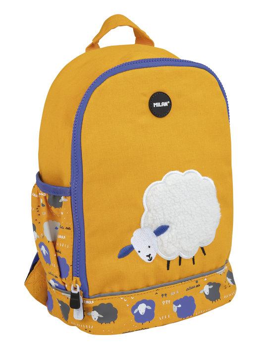 Mochila escolar pequeÑa be wool naranja