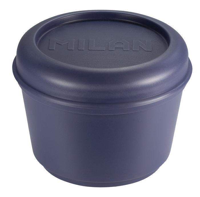 Recipiente para alimentos hermetico redondo 0,25l tapa azul