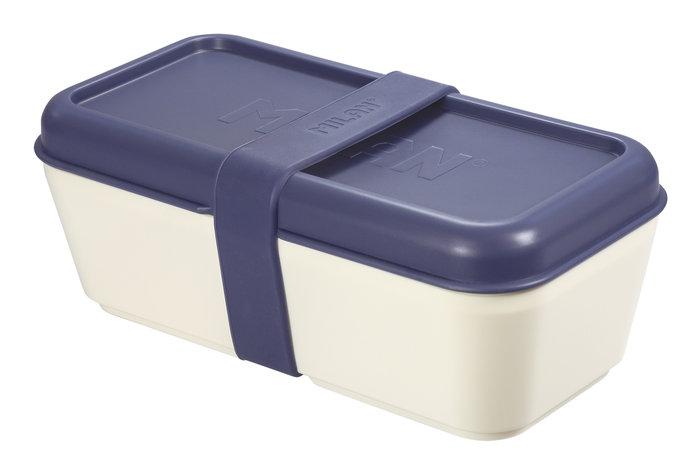 Recipiente para alimentos rectangular 0,75l tapa azul