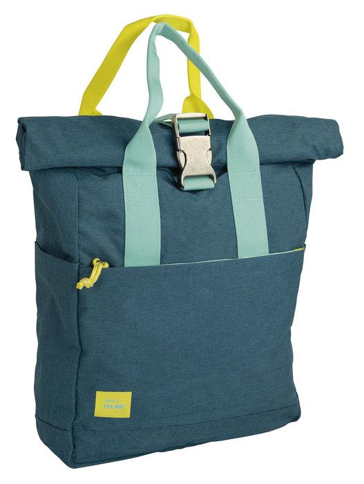 Mochilla con cierre superior enrollable lifestyle azul (10l)