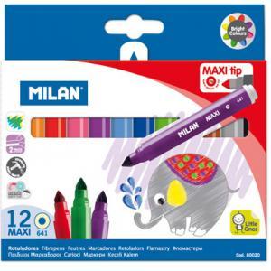 Rotulador milan maxi 12 colores surtidos