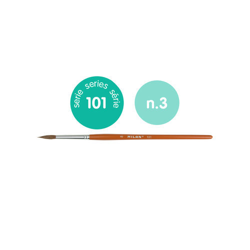 Pincel escolar redondo serie 101 nº 3