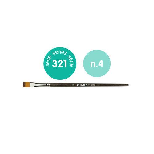 Pincel sintetico plano serie 321 nº 4