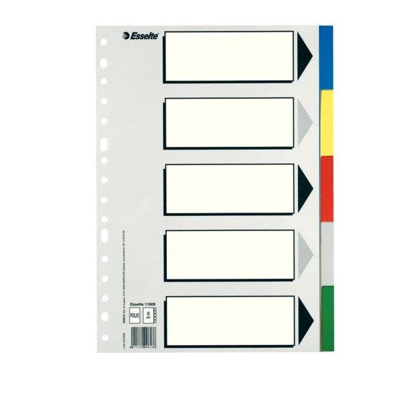 Separadores folio multitaladro plastico 5 posiciones
