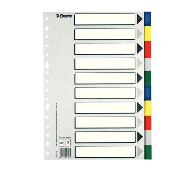 Separadores plastico folio multitaladro juego 10u