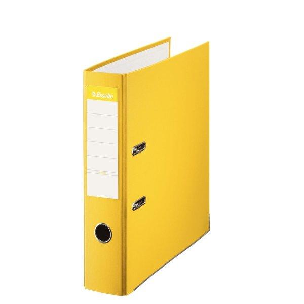 Archivador folio forrado 70mm amarillo