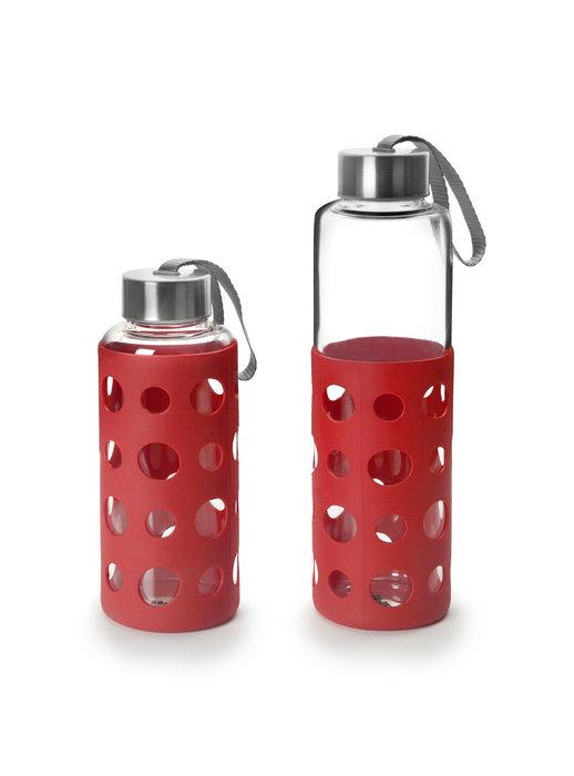Botella lake 500ml protector silicona rojo