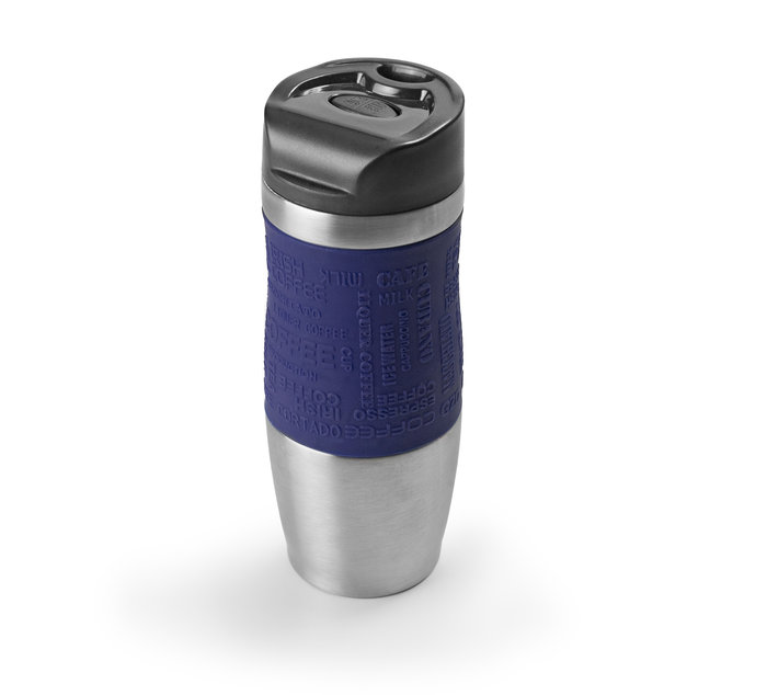 Vaso termico 400ml acero inoxidable azul