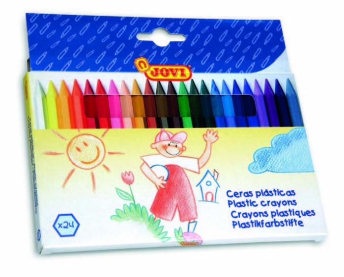 Cera jovi hexagonal c/24 colores surtidos
