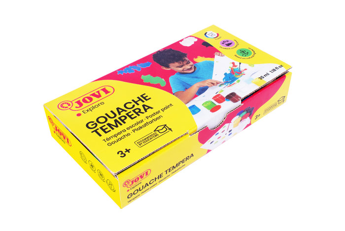 Tempera jovi 507 c/7 colores surtidos