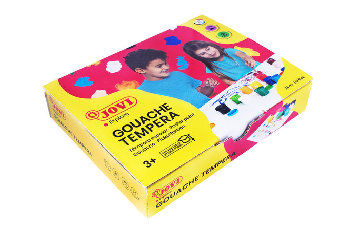Tempera jovi 512 c/12 colores surtidos