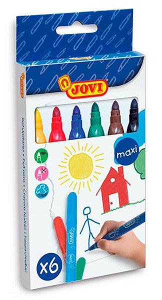 Rotulador jovi maxi 1706 c/6 colores surtidos