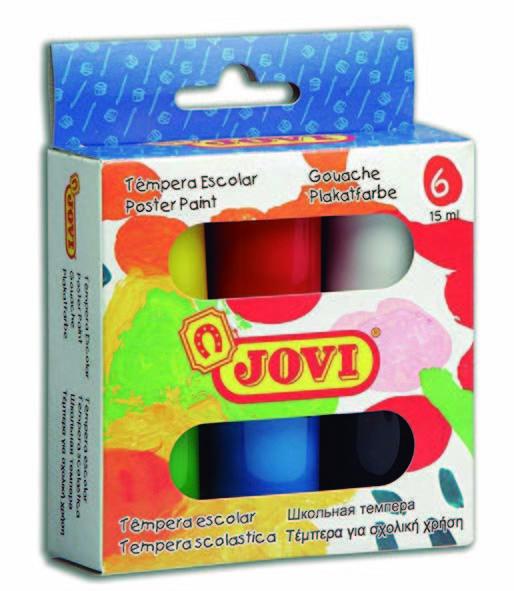 Tempera jovi 520 c/6 colores surtidos