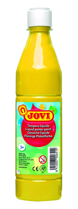 Tempera liquida jovi 506 500cc amarillo