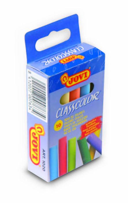 Tiza colores surtidos jovi classcolor 10u