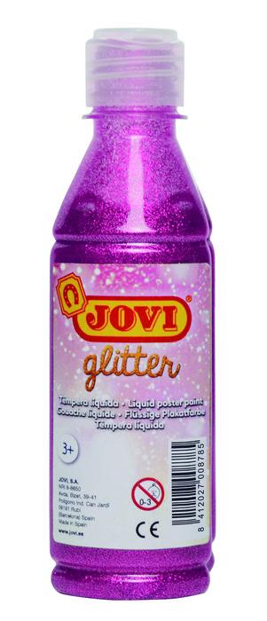Glitter tempera jovi 250 ml rosa