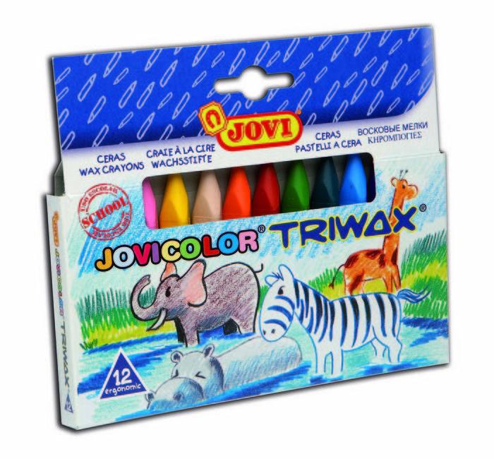 Cera jovicolor 973/12 triwax c/12 colores
