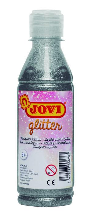 Glitter tempera jovi 250 ml plata