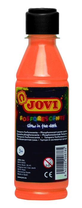 Fosforescente tempera jovi 250 ml naranja