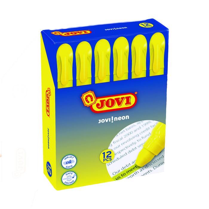Marcador cera amarillo blister 12 unid