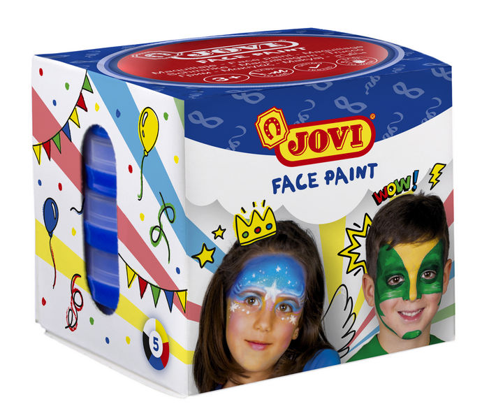 Maquillaje jovi face paint 20 ml surtido 5 uds