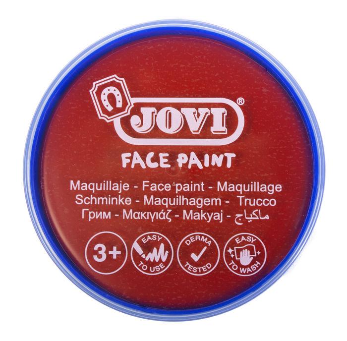 Maquillaje jovi face paint 20 ml rojo 5 uds
