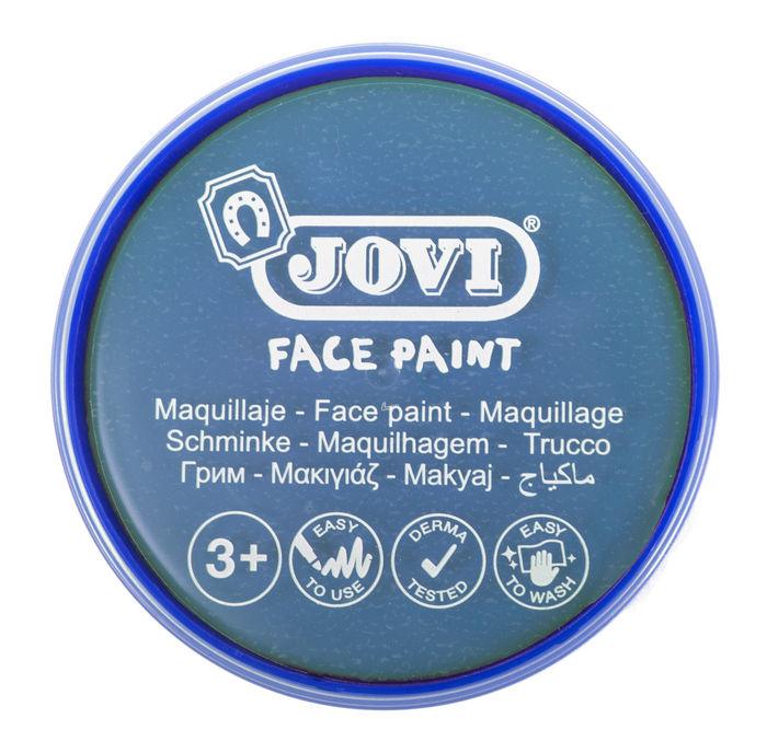 Maquillaje jovi face paint 20 ml azul claro 5 uds