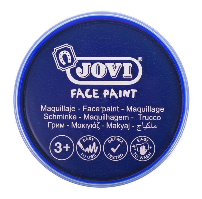 Maquillaje jovi face paint 20 ml azul oscuro 5 uds