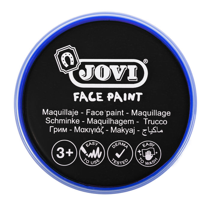 Maquillaje jovi face paint 20 ml negro 5 uds