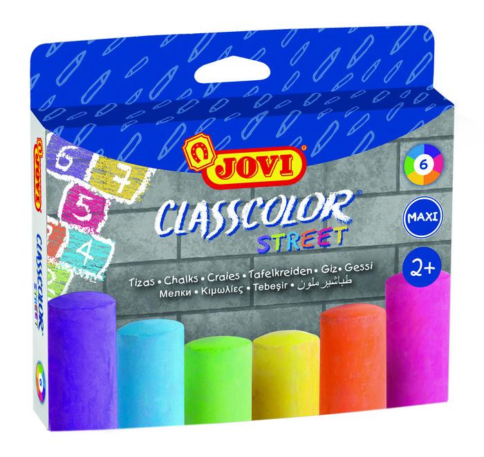Tiza jovi maxiclasscolor street 6 colores surtidos