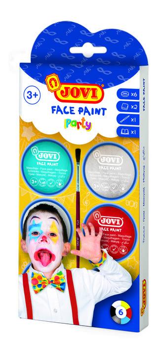 Maquillaje jovi crema party 6 colores surtidos