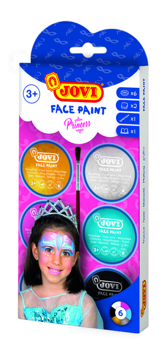 Maquillaje jovi crema princesas 6 colores surtidos