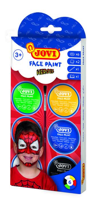 Maquillaje jovi crema heroe 6 colores surtidos