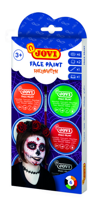Maquillaje jovi crema halloween 6 colores surtidos
