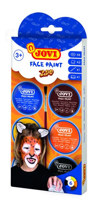 Maquillaje jovi crema zoo 6 colores surtidos
