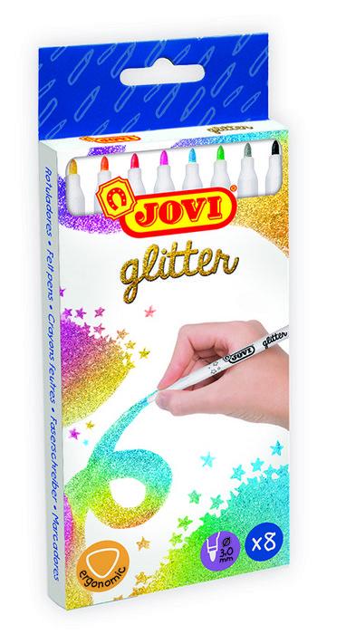 Rotulador jovi glitter 8u surtido