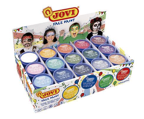 Jovi face paint caja expositora 75 botes 8 ml 15 colores