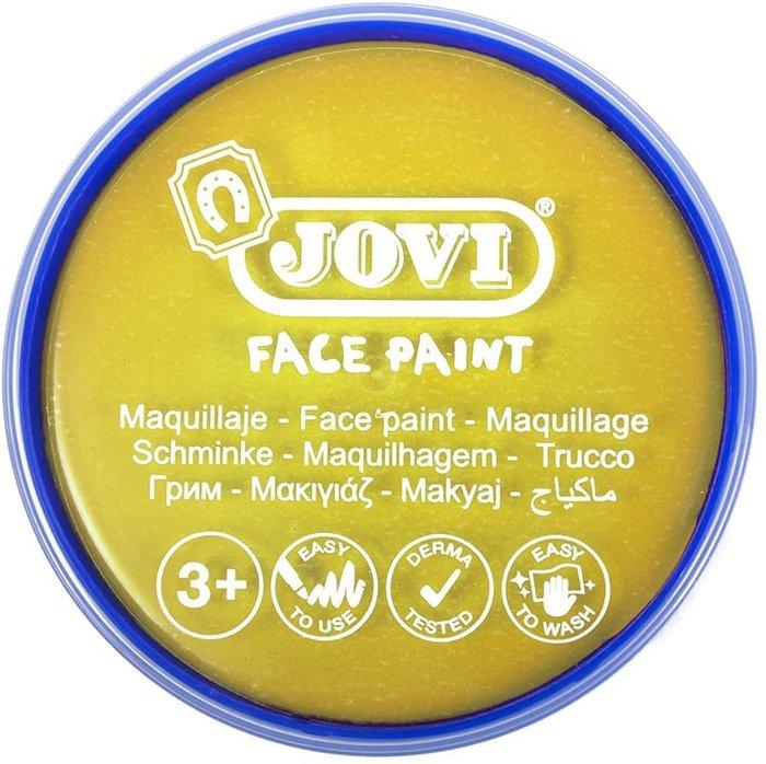 Maquillaje jovi face paint estuche 6 botes 8 ml amarillo
