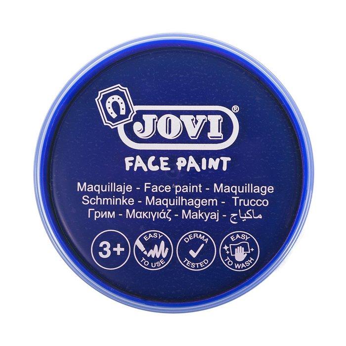 Maquillaje jovi face paint estuche 6 botes 8 ml azul oscuro