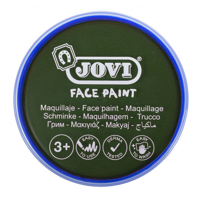 Maquillaje jovi face paint estuche 6 botes 8ml verde oscuro