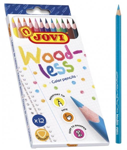 Lapiz sin madera triangular jovi woodless est 12 colores