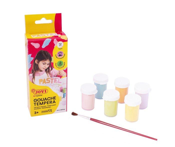 Tempera escolar jovi 15 ml 6 colores pastel