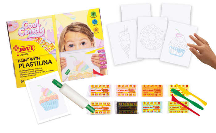 Kit para pintar con plastilina cool candy