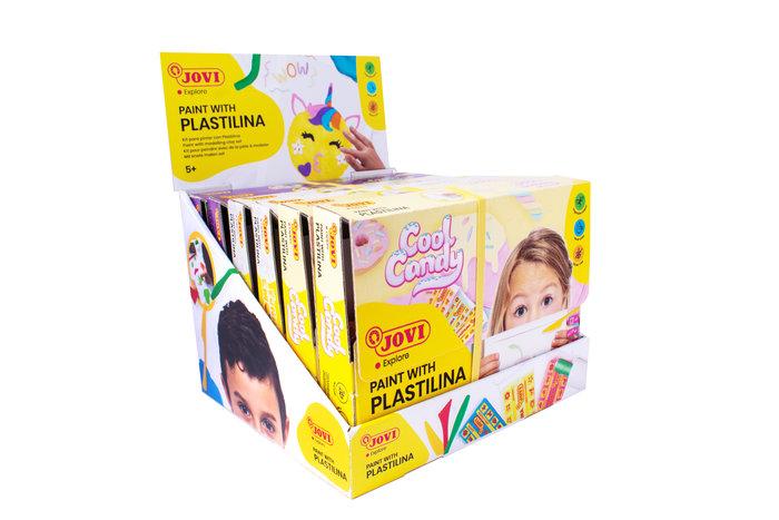 Expositor sobremesa con 6 kit para pintar con plastilina (2