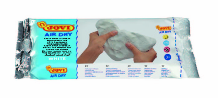 Pasta modelar jovi air dry 250 g blanca