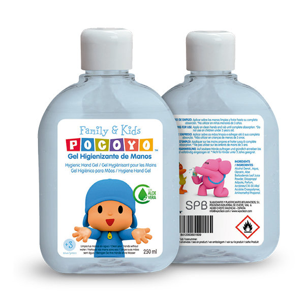 Expositor 18 uni gel hidroalcoholico pocoyo 250ml